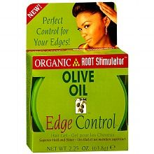Olive Oil Edge Control Hair Gel works great to give you a smooth hairline for all your updos, ponytails, and pull back styles