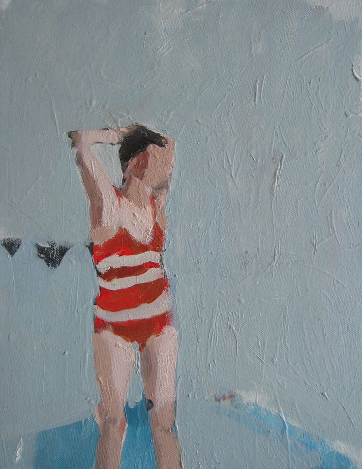 Samantha French - oh, how I love her swimmers in stripy suits!