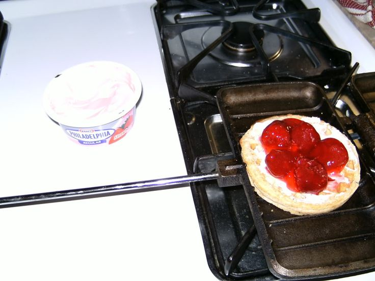 Stuffed Waffles for breakfast or dessert | Camping Recipes | Pinterest