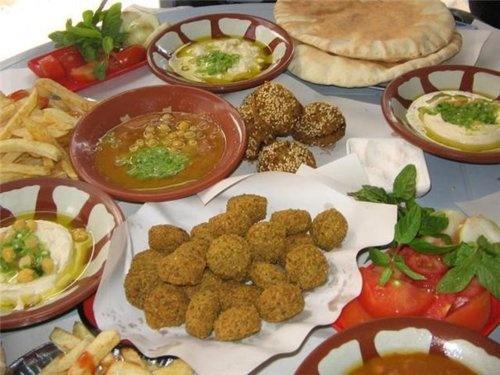best breakfast in the world, palestinian breakfast ^_^ falafel and ...