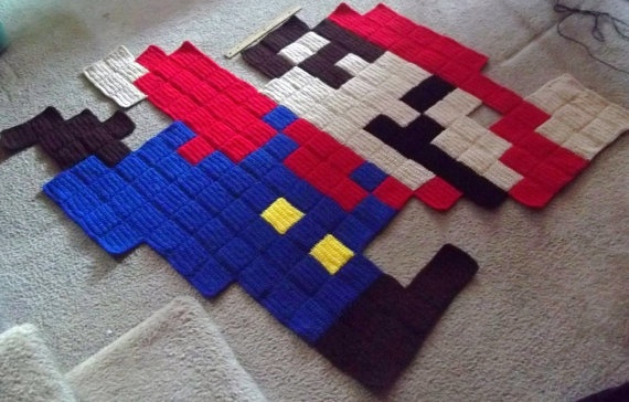 Super giant mario rug 75 game pinterest Controller rug