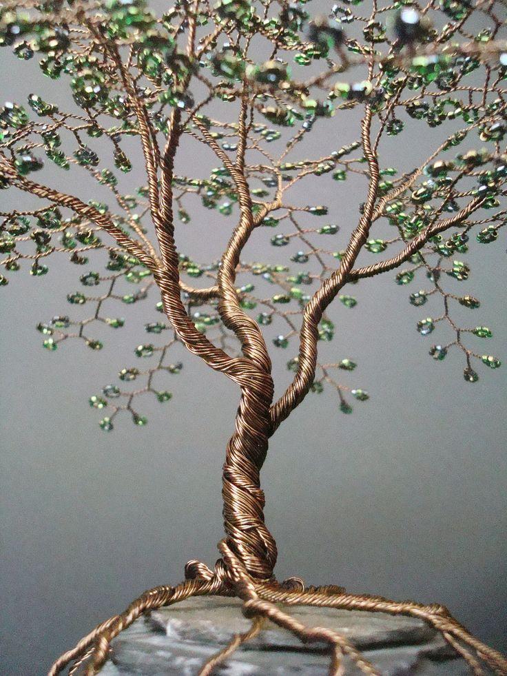 Дерево из проводов своими руками 9