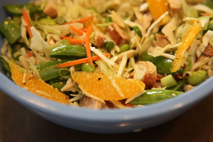 Healthy Chinese Chicken Salad with a easy and DELISH sesame oil & lime ...
