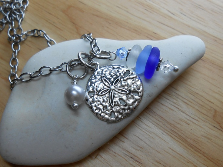 Sea Glass Jewelry - Cluster Necklace
