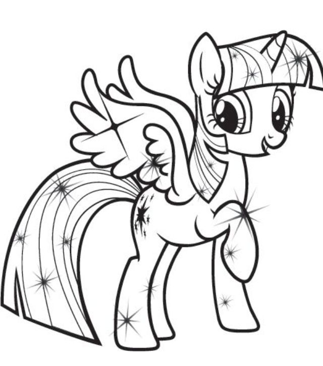 Free Coloring Pages Of My Little Pony Twilight Princess Twilight Sparkle Coloring Pages