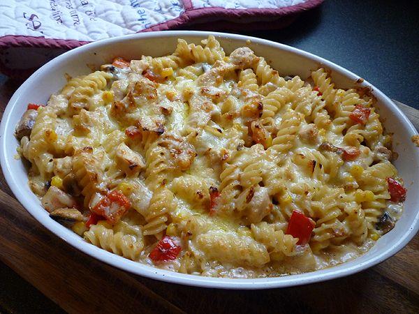Creamy Chicken Pasta Bake | food & recipes | Pinterest