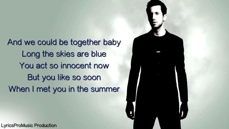 Calvin Harris - Summer (Lyrics)   Music (Lyric Videos ...
