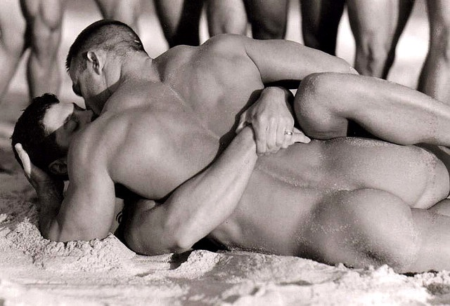 hot sexy gay man male muscles gay kiss horny