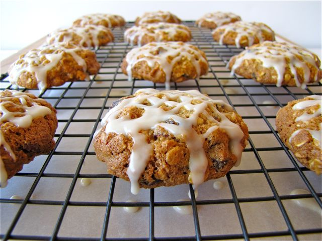 iced oatmeal applesauce cookies butter, brown sugar, white sugar, eggs ...