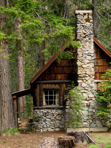 Log stone cabin in the woods north country cabin pinterest - The wood cabin on the rocks ...