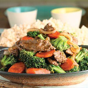 Garlic Beef, Broccoli & Cauliflower Stir Fry Recipe — Dishmaps