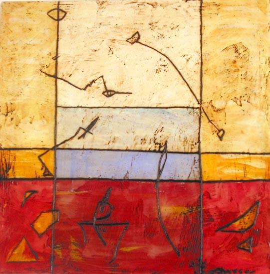 Encaustic. Untitled, 2007, Encaustics on canvas, (50 x 50 cm)