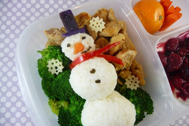 onigiri snowman lunch box easy lunch box lunches pinterest. Black Bedroom Furniture Sets. Home Design Ideas