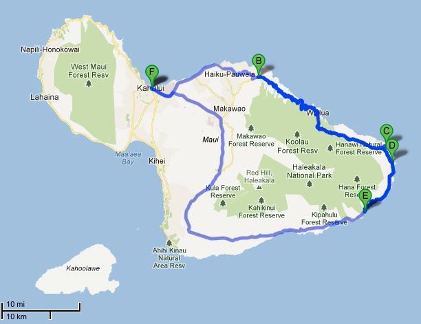 map road to Hana | Maui | Pinterest