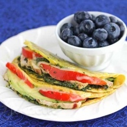 , Avocado, Kale Pesto, Cheese Quesadilla - I used leftover turkey ...
