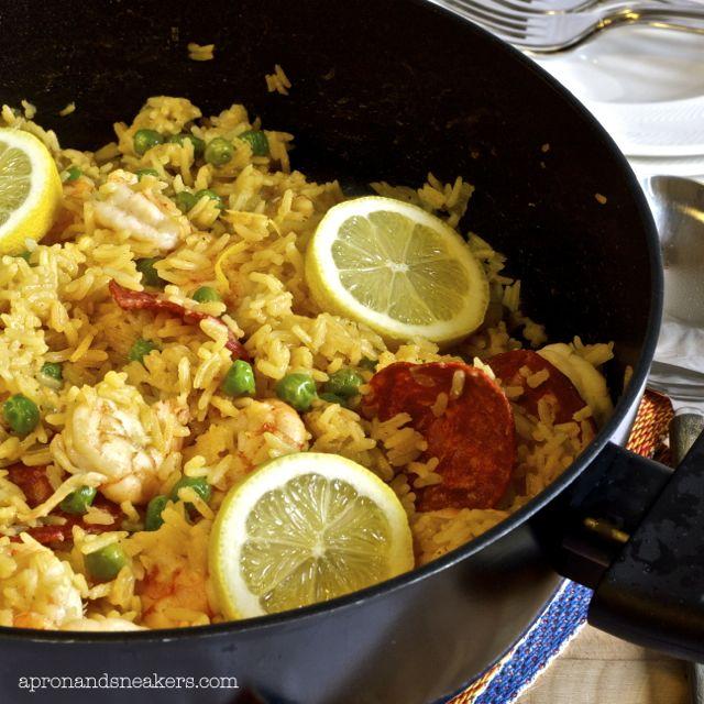 Lemony Prawn & Chorizo Rice Pot | Crustaceans and swimmy critters | P ...