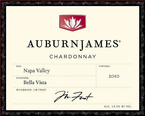 AuburnJames Winery 2010 Napa Valley Chardonnay