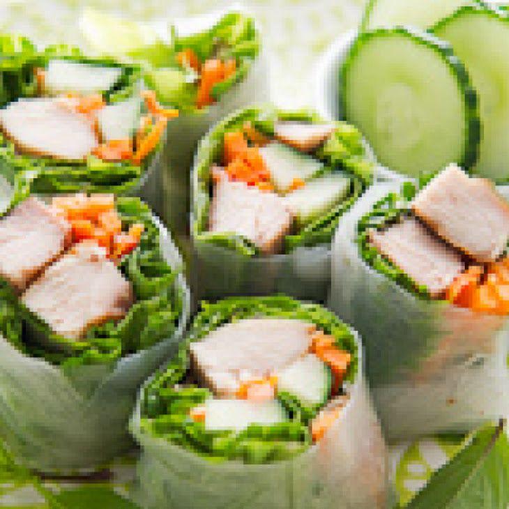 Garlic Chicken Spring Rolls Recipe | Mmm...Yummy Foods | Pinterest