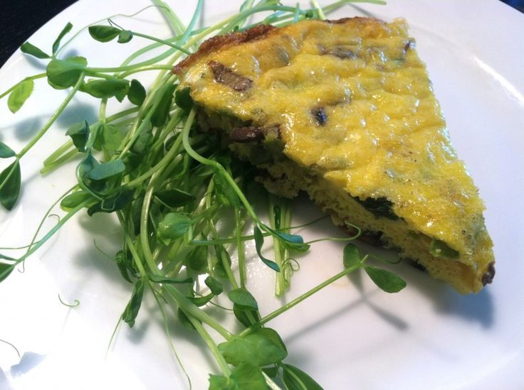 asparagus mushroom and Gruyere frittata for Father's Day brunch