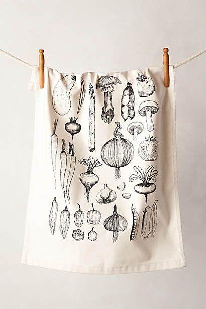 Vegetable Garden Dishtowel