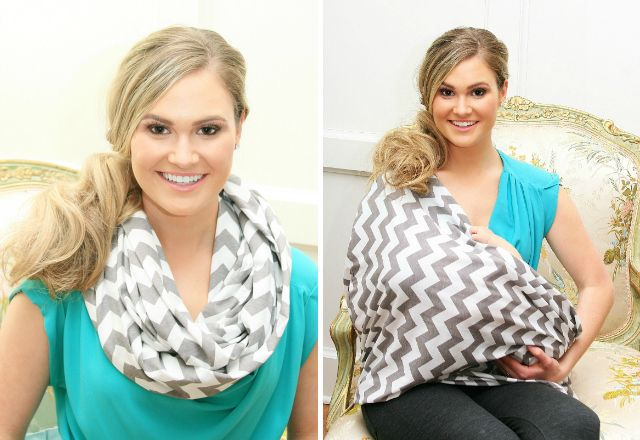 Infinity Scarf Nursing Cover by @Itzy Ritzy - we adore this wearable nursing cover! So stylish and functional. #babygear #nursing #giftidea