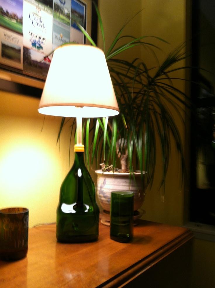 Wine Bottle Lamp  DIY .. Wine & Beer Bottles  Pinterest