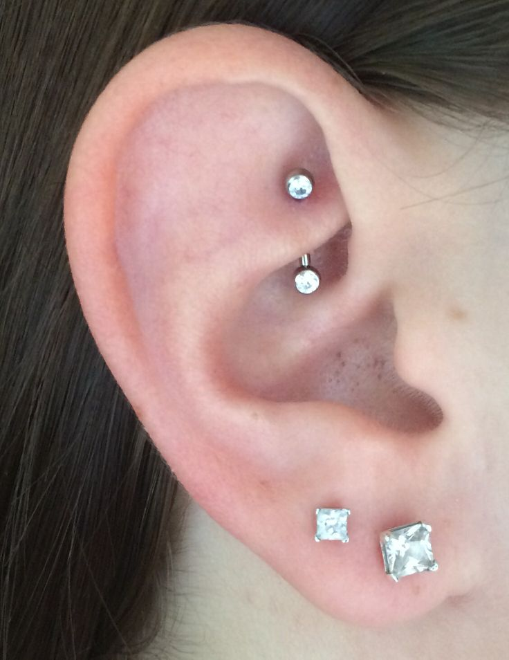 Diamond Rook Ear Piercing