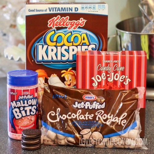 Peppermint Cookie Crunch & Mallow Bits Chocolate Krispie Treats