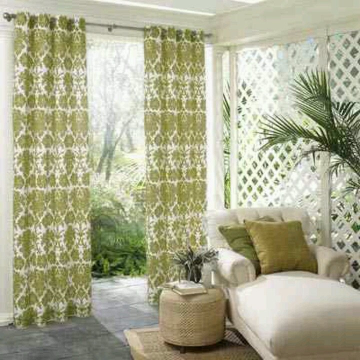Privacy curtains for around pool | Diy | Pinterest