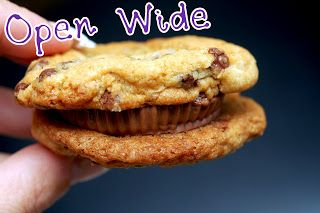 ... : SEA SALT CHOCOLATE CHIP COOKIES SANDWICHED WITH PEANUT BUTTER CUPS