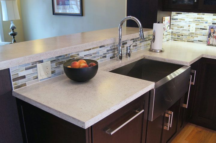 Pin by tiffany levandowski on for the home pinterest for Concrete kitchen countertop ideas