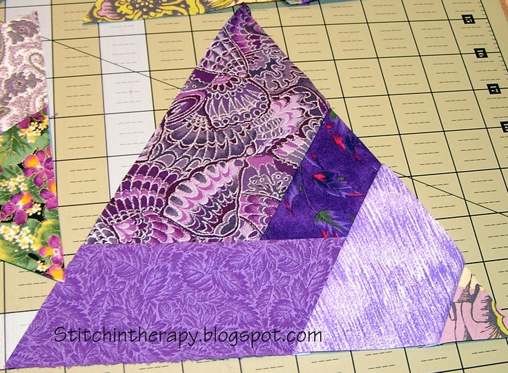 Love these!!! Stitchin' Therapy: Making Triangle Units