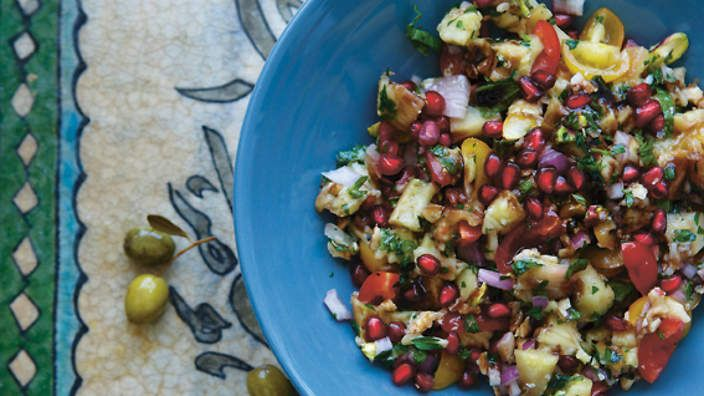 Baba Ghanouj | Grilled Eggplant Dip #middleeasternfood #appetizer