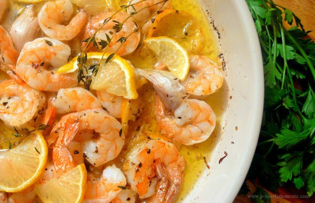 Lemon, Herb & Garlic Baked Shrimp....adding Old Bay Seasoning too ...