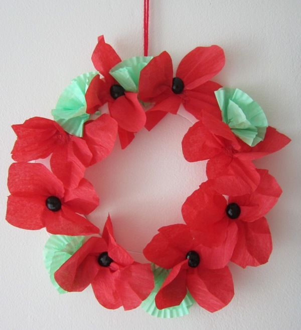 Remembrance day poppy wreath school ideas pinterest - Remembrance day craft ideas ...