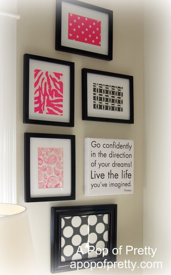 Wall Decor With Scrapbook Paper : Framed scrapbook paper as wall art lainey
