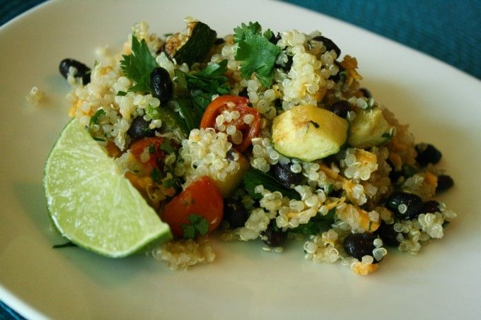 Zucchini Quinoa with Cilantro Lime Vinaigrette