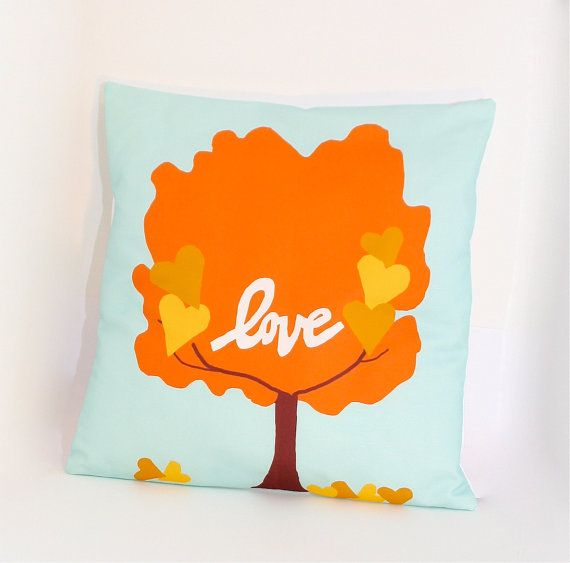 Falling in Love Tree Pillow Cover by bexcaliber on Etsy, $23.00, fall home decor