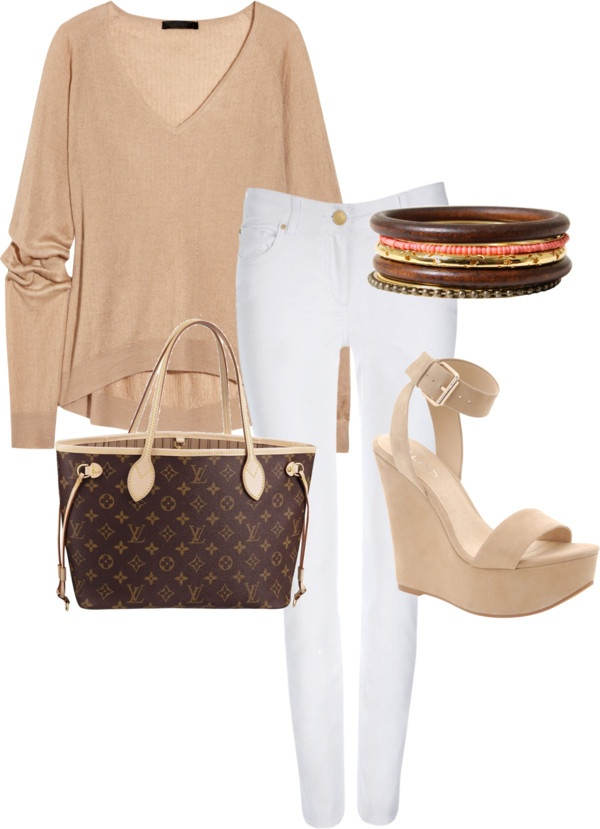 """""""White and Tan"""" by md-studios on Polyvore"""