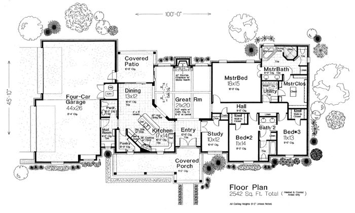 Traditional House Plan 98574