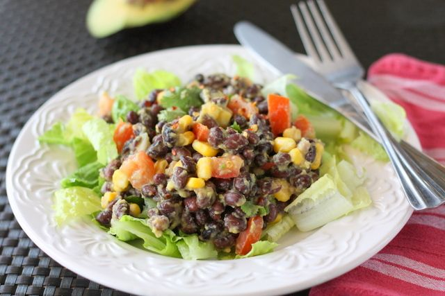 black bean avocado cucumber and tomato salad recept yummly black bean ...