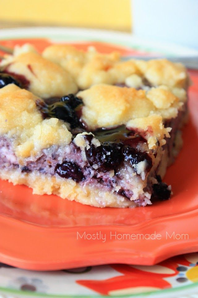 Blueberry Cobbler Sugar Cookie Squares