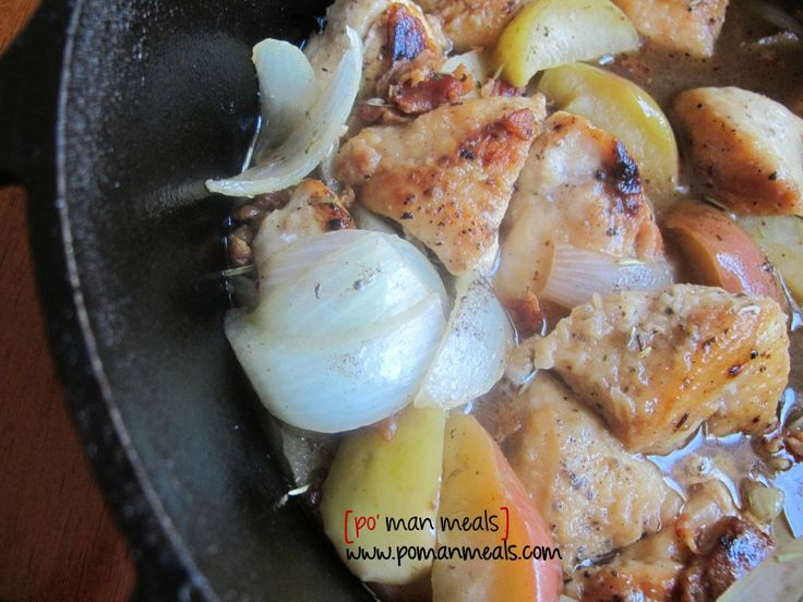 "Rosemary Chicken and Apple Pot.. {Po'Man Meals}..""sweet apples, smok..."