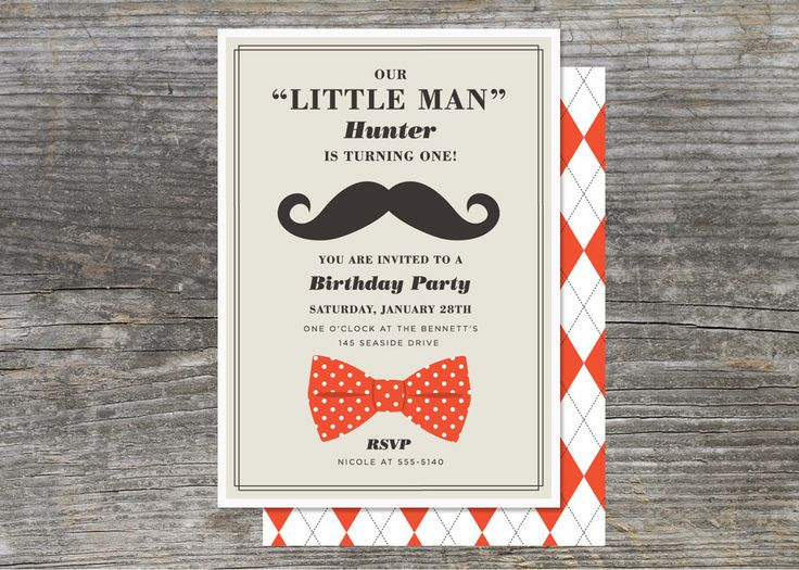 Little Man Birthday Invitations could be nice ideas for your invitation template