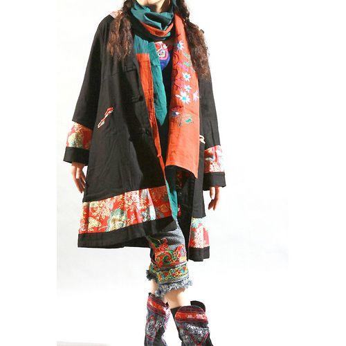 ethnic clothing | ... China Wholesale Chinese Style Flax Long Hoodie