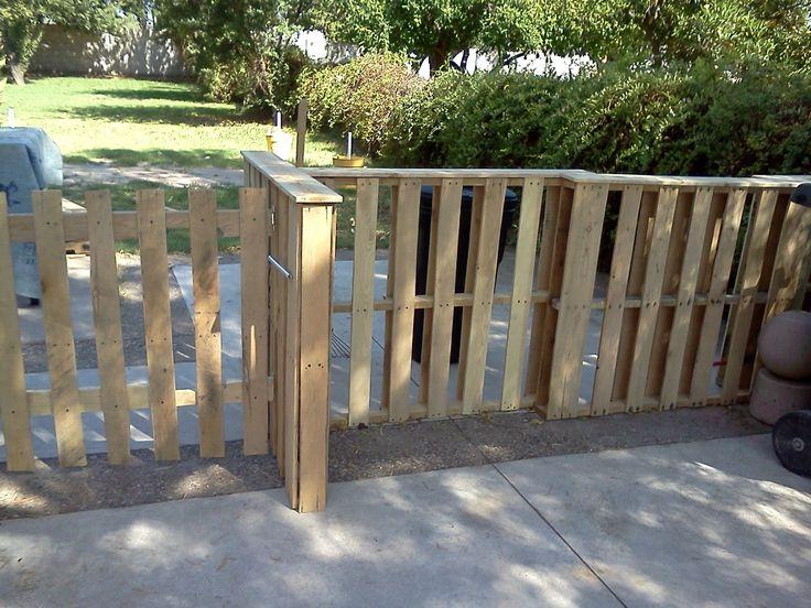 Pallet Fence Gardening Landscape Pinterest