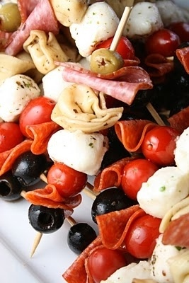 Antipasto Kabobs.  Why didn't I think of this?