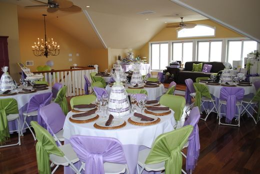 Green Purple And Brown Baby Shower Party Ideas