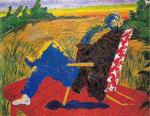 """Él mismo decia """".. dentro del mismo espacio pictórico recurro a la violencia tonal"""" #Gorriarena dixit #arte"""