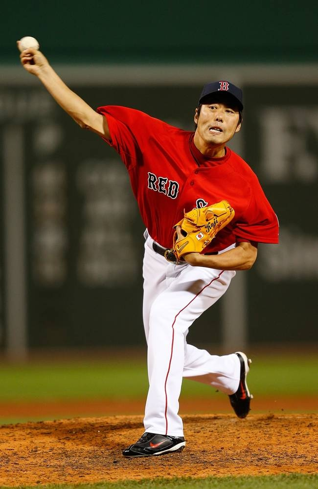 Ma april 26 koji uehara 19 of the boston red sox throws in the 8th